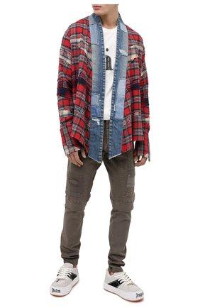 Мужской хлопковые брюки GREG LAUREN хаки цвета, арт. GLFW20-AM135 | Фото 2