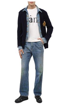 Мужской шерстяной пиджак GREG LAUREN темно-синего цвета, арт. GLFW20-AM102   Фото 2