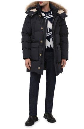 Мужская пуховик quillmadec MONCLER черного цвета, арт. F2-091-1C513-02-54A91 | Фото 2