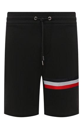 Мужские хлопковые шорты MONCLER черного цвета, арт. F2-091-8H716-10-80985 | Фото 1