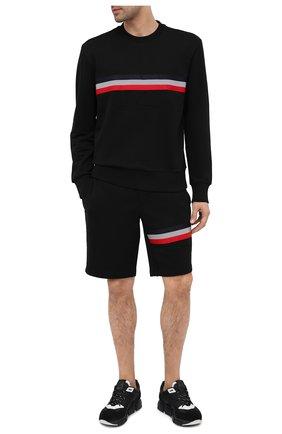 Мужские хлопковые шорты MONCLER черного цвета, арт. F2-091-8H716-10-80985 | Фото 2