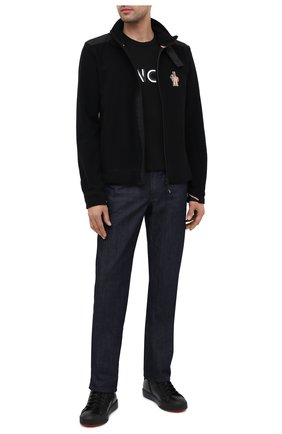 Мужская толстовка MONCLER GRENOBLE черного цвета, арт. F2-097-8G700-00-80093 | Фото 2