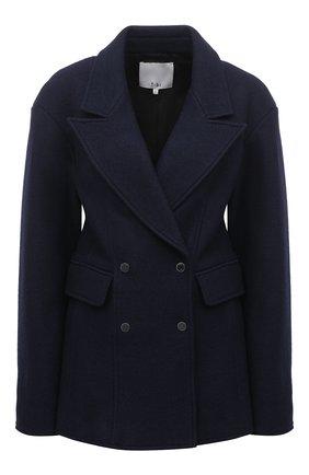 Женский шерстяной жакет TIBI темно-синего цвета, арт. P220BI8167 | Фото 1