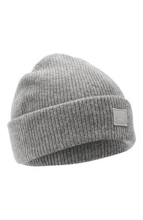 Женская шерстяная шапка ACNE STUDIOS серого цвета, арт. C40075/W   Фото 1
