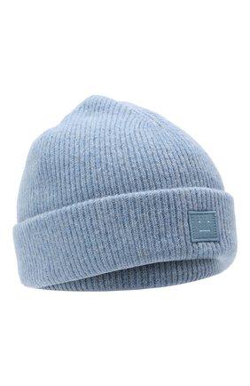 Женский шерстяная шапка ACNE STUDIOS голубого цвета, арт. C40075/W | Фото 1