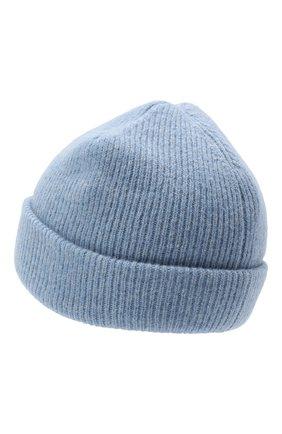 Женский шерстяная шапка ACNE STUDIOS голубого цвета, арт. C40075/W | Фото 2