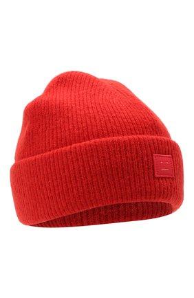 Женский шерстяная шапка ACNE STUDIOS красного цвета, арт. C40075/W | Фото 1