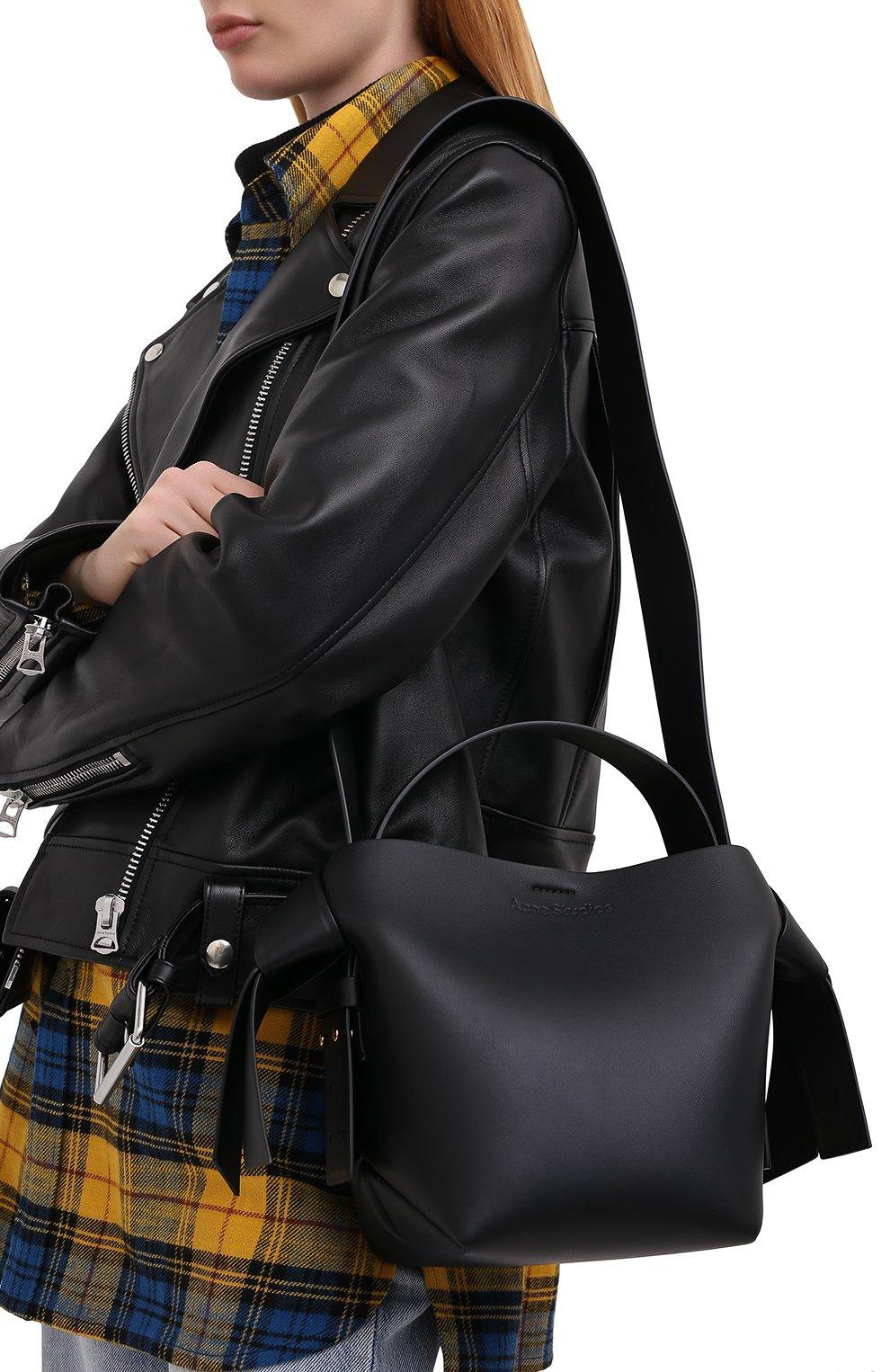 Женская сумка musubi mini ACNE STUDIOS черного цвета, арт. A10093 | Фото 5