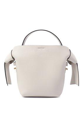 Женская сумка musubi mini ACNE STUDIOS белого цвета, арт. A10093 | Фото 1 (Материал: Натуральная кожа; Сумки-технические: Сумки через плечо, Сумки top-handle; Ремень/цепочка: На ремешке; Размер: mini)