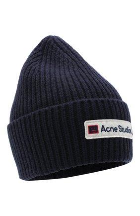 Женский шерстяная шапка ACNE STUDIOS синего цвета, арт. C40102/W | Фото 1