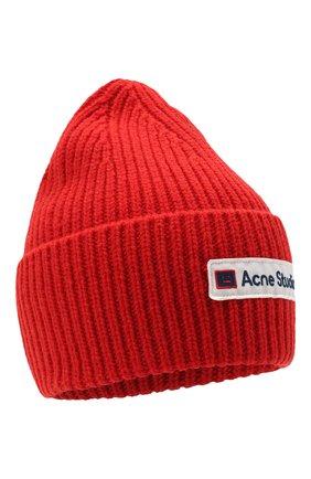 Женский шерстяная шапка ACNE STUDIOS красного цвета, арт. C40102/W | Фото 1