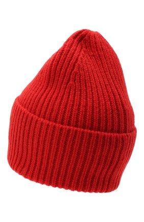 Женский шерстяная шапка ACNE STUDIOS красного цвета, арт. C40102/W | Фото 2
