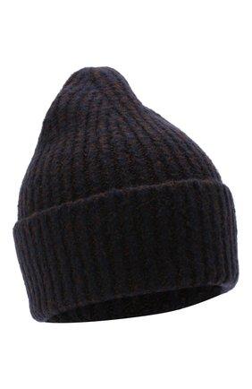 Женская шапка из шерсти и кашемира ACNE STUDIOS темно-синего цвета, арт. C40106/W | Фото 1