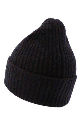 Женская шапка из шерсти и кашемира ACNE STUDIOS темно-синего цвета, арт. C40106/W | Фото 2