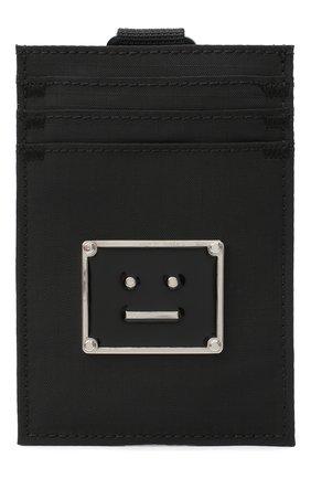 Женский текстильный футляр для кредитных карт ACNE STUDIOS черного цвета, арт. C80037/W | Фото 1
