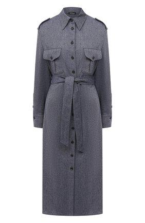 Женское шерстяное платье KITON синего цвета, арт. D50335K05T39 | Фото 1