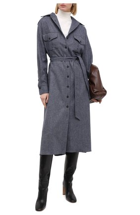 Женское шерстяное платье KITON синего цвета, арт. D50335K05T39 | Фото 2