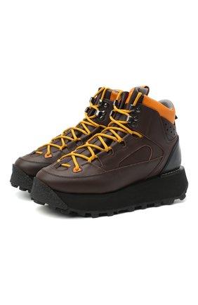 Женские кожаные ботинки ACNE STUDIOS коричневого цвета, арт. AD0296 | Фото 1