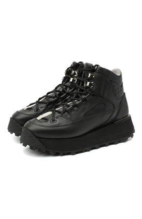 Женские кожаные ботинки ACNE STUDIOS черного цвета, арт. AD0296 | Фото 1