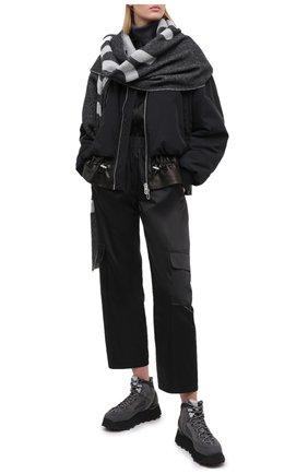 Женские комбинированные ботинки ACNE STUDIOS серого цвета, арт. AD0308 | Фото 2