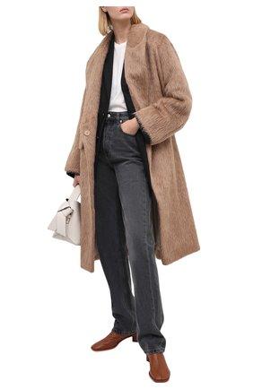 Женские кожаные ботильоны ACNE STUDIOS коричневого цвета, арт. AD0313 | Фото 2