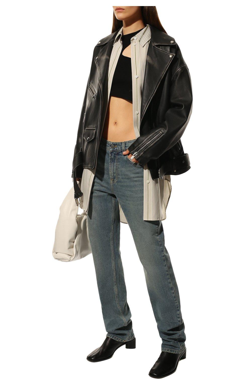 Женские кожаные ботильоны ACNE STUDIOS черного цвета, арт. AD0313 | Фото 2