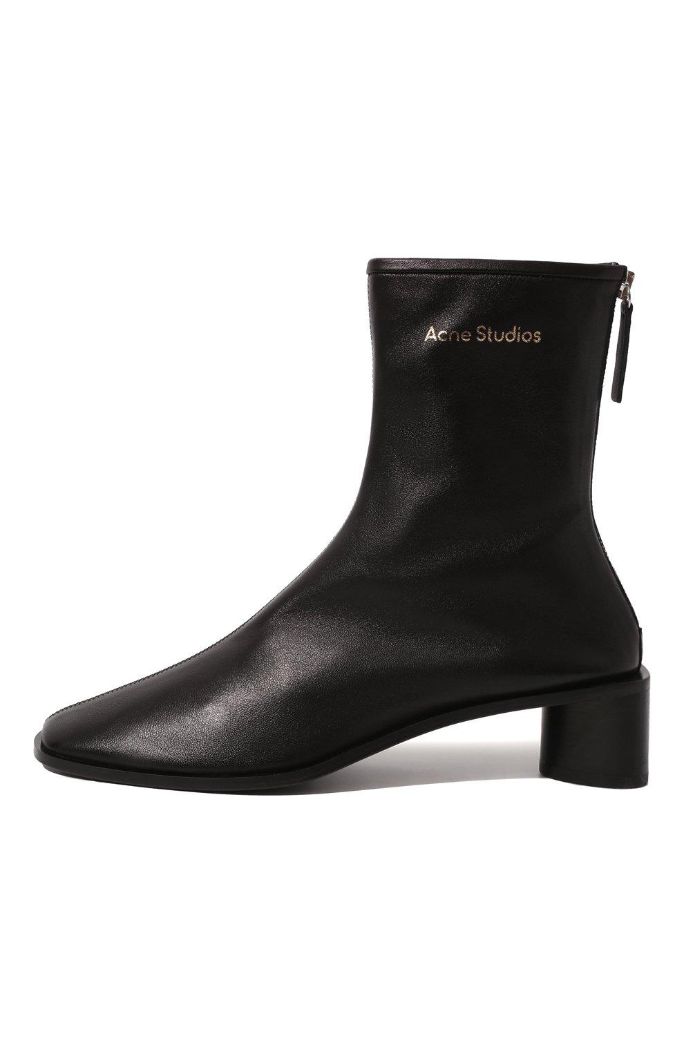 Женские кожаные ботильоны ACNE STUDIOS черного цвета, арт. AD0313 | Фото 4