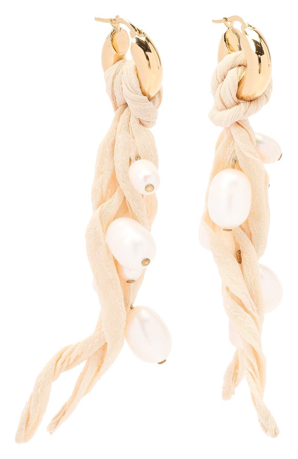 Женские серьги JIL SANDER белого цвета, арт. JSWR836101/WRS78016 | Фото 3
