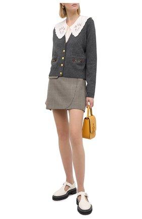 Женский кашемировый кардиган GUCCI серого цвета, арт. 628412/XKBH9 | Фото 2