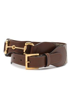 Женский кожаный ремень GUCCI коричневого цвета, арт. 625854/1NSBG   Фото 1