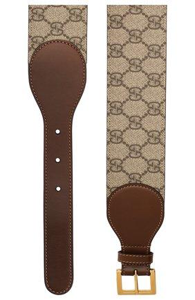 Женский кожаный ремень GUCCI коричневого цвета, арт. 625854/1NSBG   Фото 2