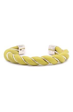 Женский кожаный браслет BOTTEGA VENETA светло-зеленого цвета, арт. 636836/V507C | Фото 1