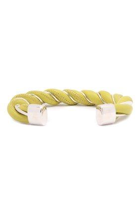 Женский кожаный браслет BOTTEGA VENETA светло-зеленого цвета, арт. 636836/V507C | Фото 2