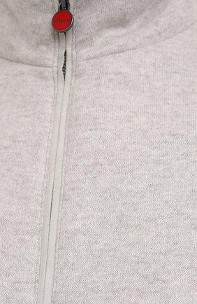Мужской кашемировый бомбер KITON светло-бежевого цвета, арт. UW0805MV03T62/60-68 | Фото 5