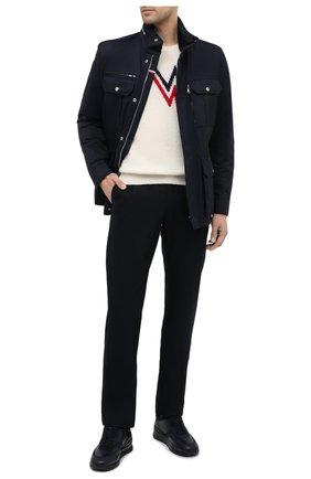 Мужские шерстяные брюки JACOB COHEN черного цвета, арт. B0BBY W00L 06968-N/54   Фото 2
