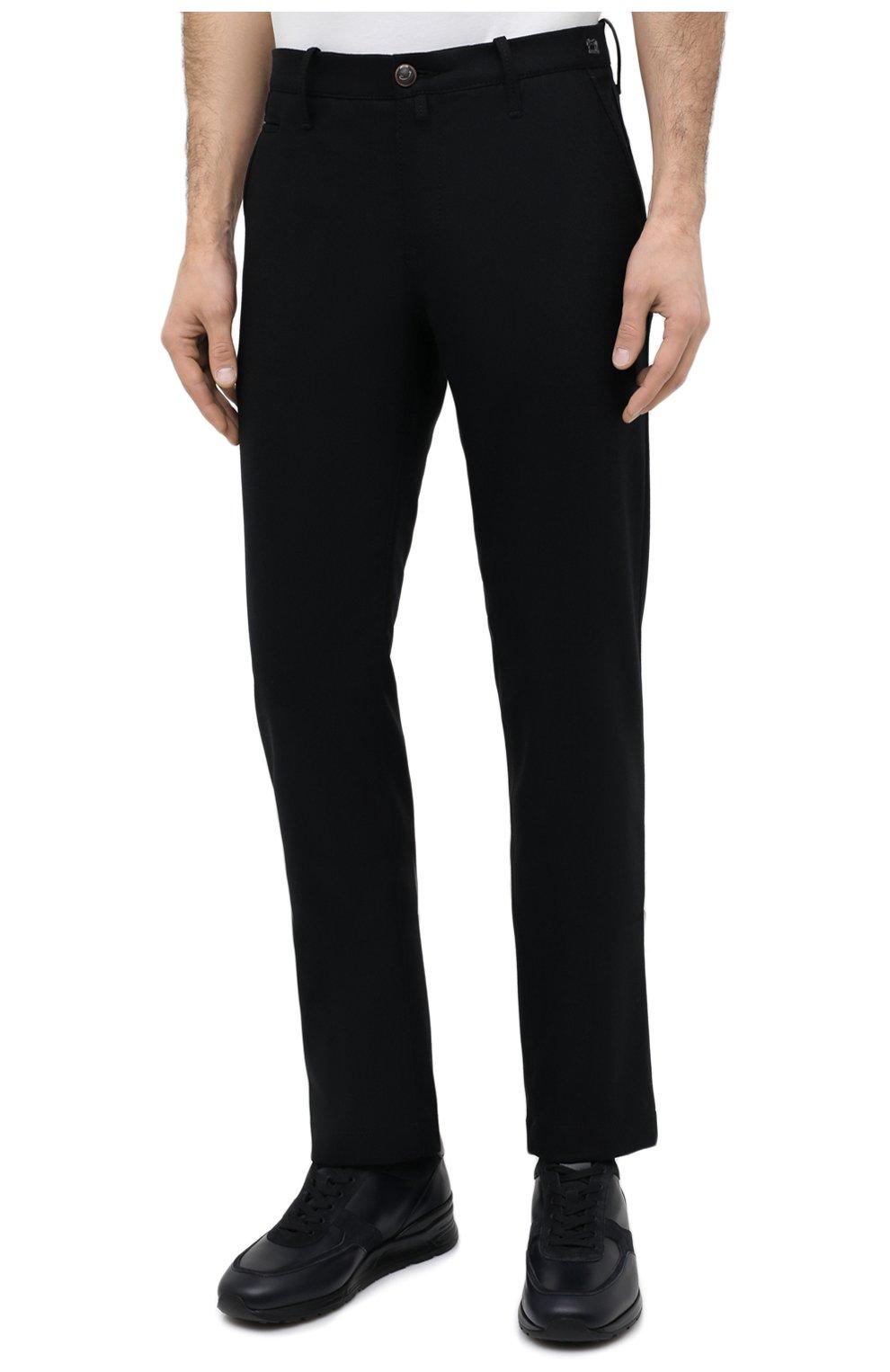 Мужские шерстяные брюки JACOB COHEN черного цвета, арт. B0BBY W00L 06968-N/54   Фото 3
