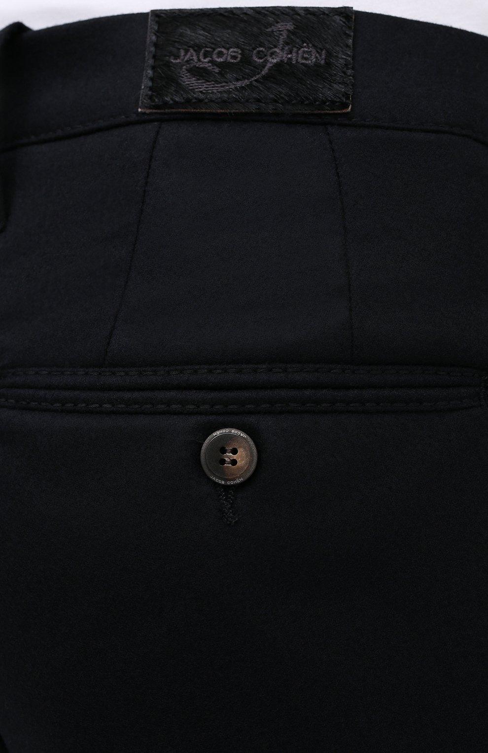 Мужские шерстяные брюки JACOB COHEN черного цвета, арт. B0BBY W00L 06968-N/54   Фото 5