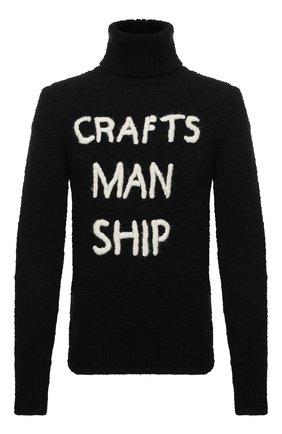 Мужской шерстяной свитер DOLCE & GABBANA черного цвета, арт. GXC49Z/JAM09   Фото 1