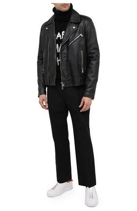 Мужской шерстяной свитер DOLCE & GABBANA черного цвета, арт. GXC49Z/JAM09   Фото 2