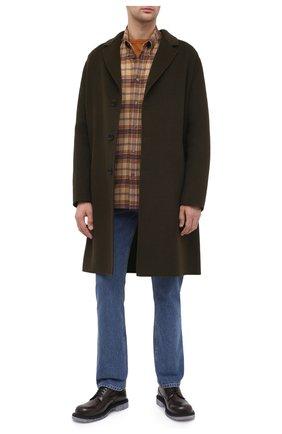 Мужская хлопковая рубашка GUCCI коричневого цвета, арт. 629755/Z8AK2 | Фото 2