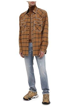 Мужские джинсы GUCCI синего цвета, арт. 623953/XDBEU | Фото 2