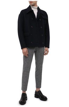 Мужские кожаные оксфорды DSQUARED2 черного цвета, арт. LUM0054 14410001 | Фото 2