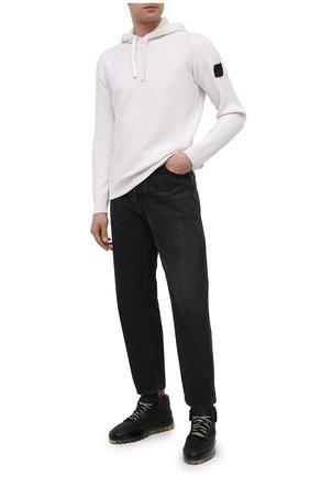 Мужские кожаные кеды RBRSL черного цвета, арт. 7Y2280U.Y40TYDT374 | Фото 2