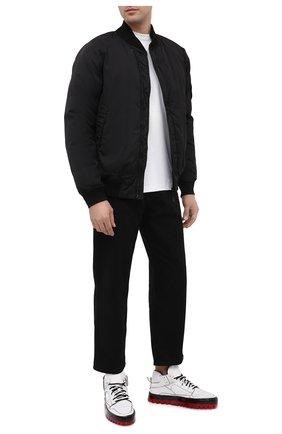 Мужские кожаные кеды RBRSL белого цвета, арт. 7Y2280U.Y40TYDTD94 | Фото 2