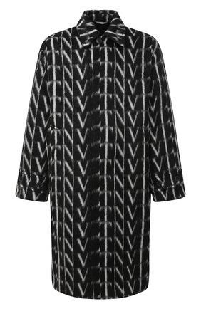 Мужской шерстяное пальто VALENTINO черно-белого цвета, арт. UV0CAC386QQ   Фото 1