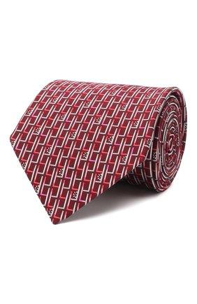 Мужской комплект из галстука и платка LANVIN бордового цвета, арт. 4309/TIE SET | Фото 1