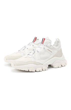 Мужские комбинированные кроссовки leave no trace MONCLER белого цвета, арт. F2-09A-4M703-40-02SH4 | Фото 1
