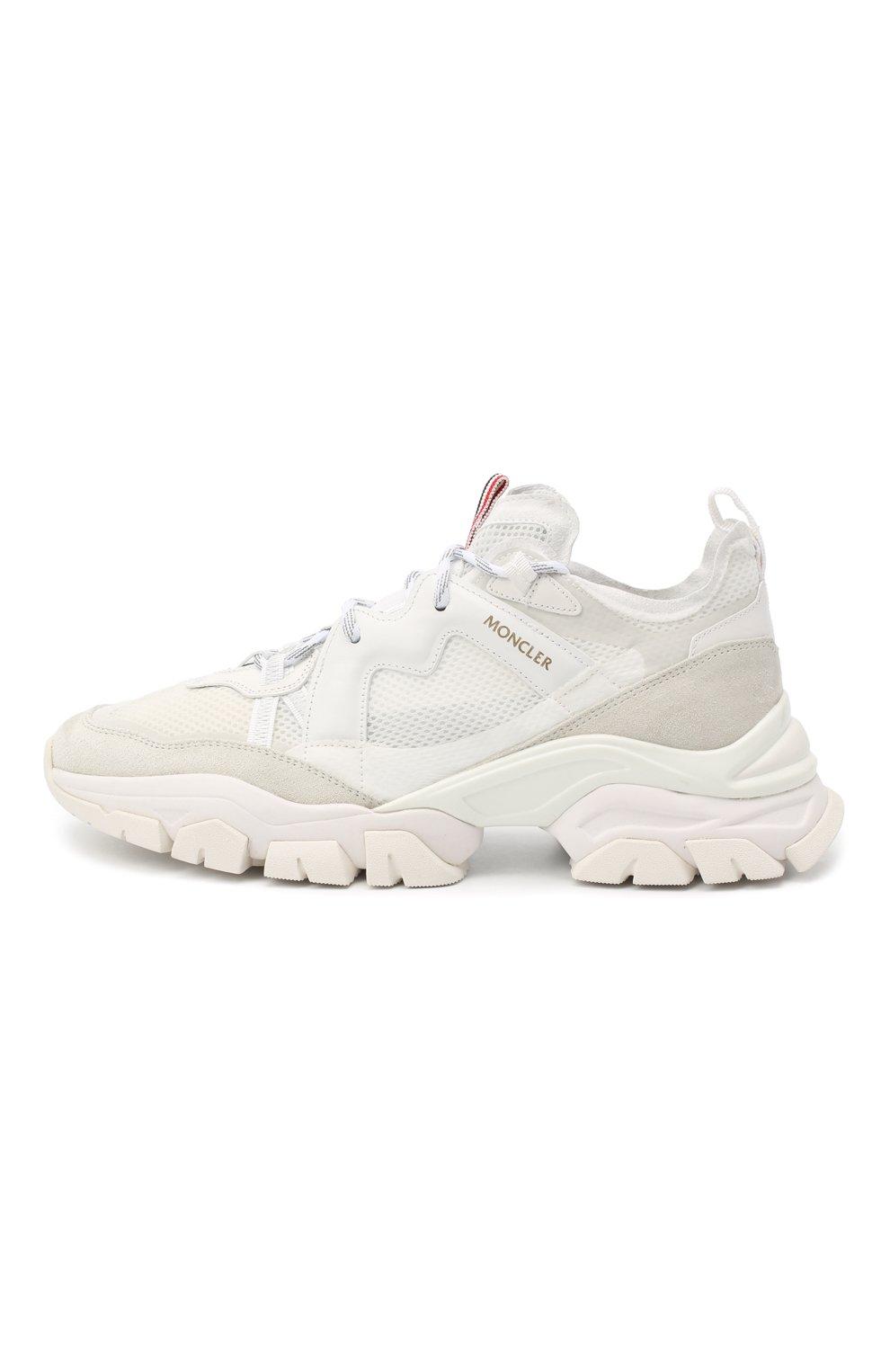 Мужские комбинированные кроссовки leave no trace MONCLER белого цвета, арт. F2-09A-4M703-40-02SH4 | Фото 3 (Материал внутренний: Натуральная кожа; Стили: Гранж; Подошва: Массивная)