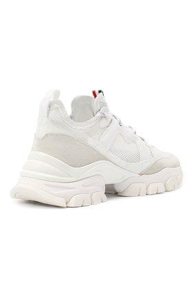 Мужские комбинированные кроссовки leave no trace MONCLER белого цвета, арт. F2-09A-4M703-40-02SH4 | Фото 4 (Материал внутренний: Натуральная кожа; Стили: Гранж; Подошва: Массивная)