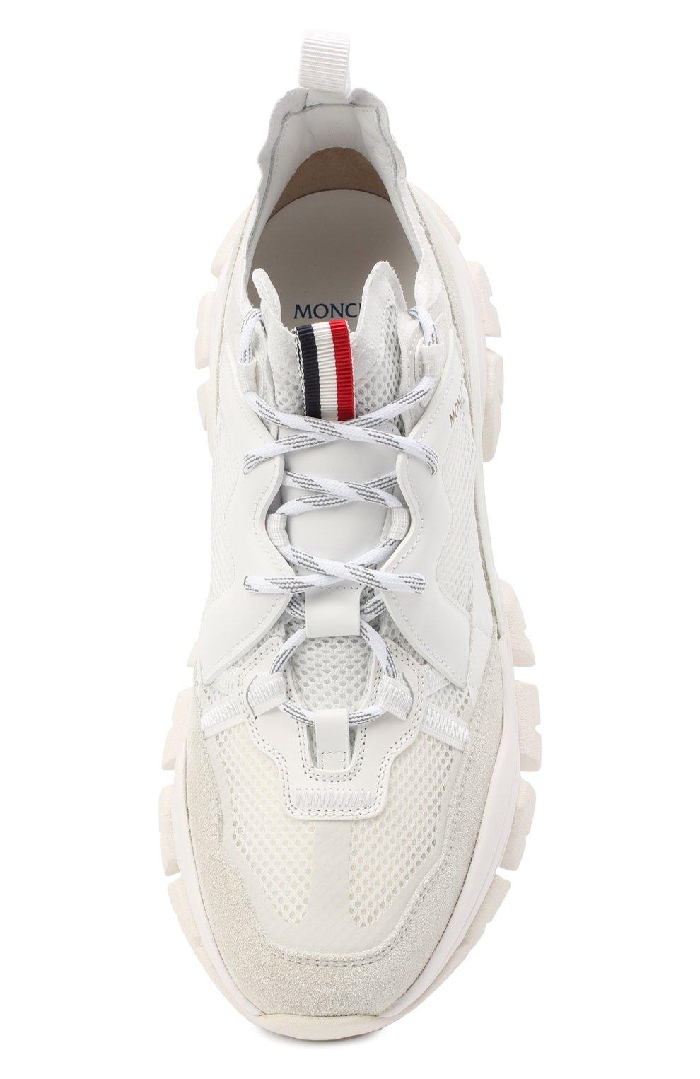 Мужские комбинированные кроссовки leave no trace MONCLER белого цвета, арт. F2-09A-4M703-40-02SH4 | Фото 5 (Материал внутренний: Натуральная кожа; Стили: Гранж; Подошва: Массивная)